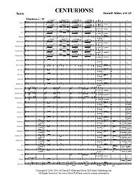 Centurions - Full Score - Pg 1 200x259